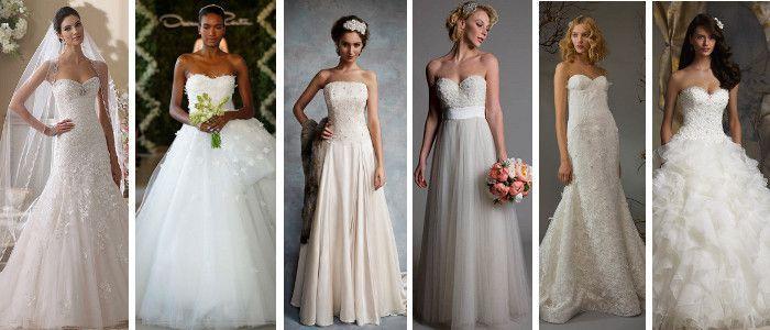 Wedding Magazine - Lookbook: strapless wedding dresses