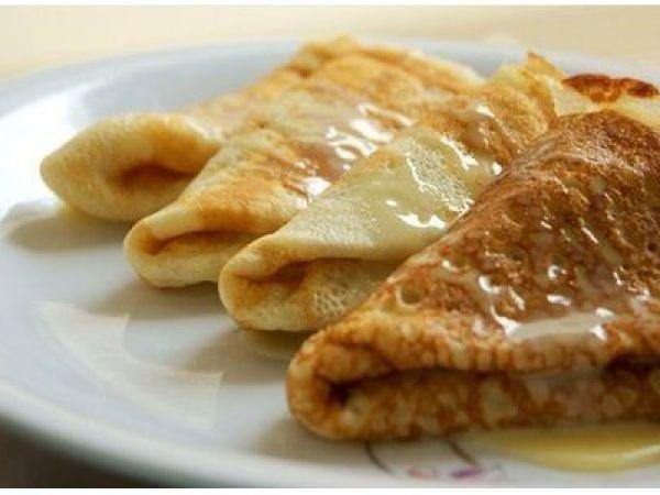 Очень вкусные заварные блины на молоке   Vkusno.co - готовим легко!