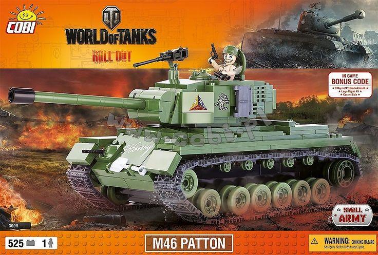 M46 Patton. Amerykański czołg podstawowy stanowiący główne wyposażenie armii podczas wojen w Korei i Wietnamie. Czołg został nazwany na cześć jednego z generałów George'a Pattona, który był zwolennikiem broni pancernej. Patton był wielokrotnie modyfikowanym czołgiem dzięki temu zastosowano lepszy silnik, armatę 90 mm w późniejszych wersjach 105mm oraz znacznie grubsze opancerzenie.