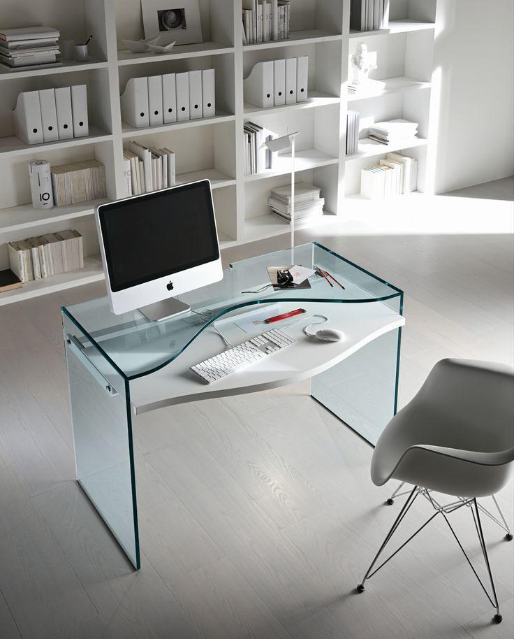 Escritorio de vidrio para pc strata t d tonelli design for Escritorio de vidrio