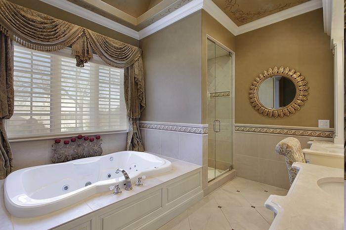 die besten 25 gardinen badezimmer ideen auf pinterest. Black Bedroom Furniture Sets. Home Design Ideas