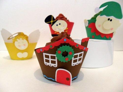 Moldes de Cupcakes para Navidad - DecoPeques