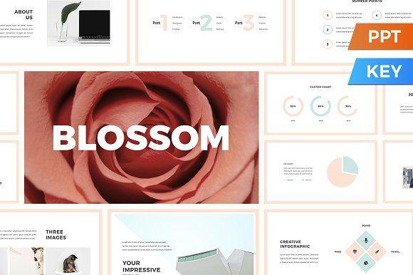Blossom Presentation Template by SlideStation on @creativemarket