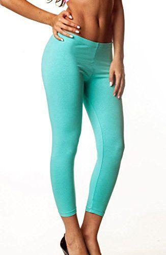 Coqueta Womens Capri Legging Cotton Spandex AQUAMEDIUM *** Check out this great product.