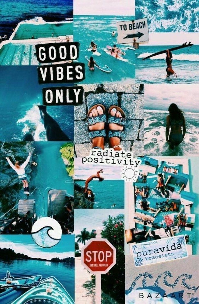 Cute Phone Backgrounds Good Vibes Only Photo Collage Photos From The Beach In 2020 Cute Wallpapers Aesthetic Iphone Wallpaper Aesthetic Wallpapers