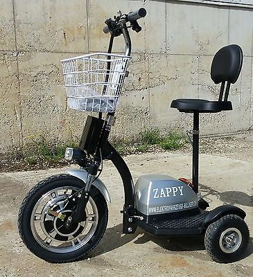 350w silber zappy golfcart fun elektroscooter dreirad. Black Bedroom Furniture Sets. Home Design Ideas