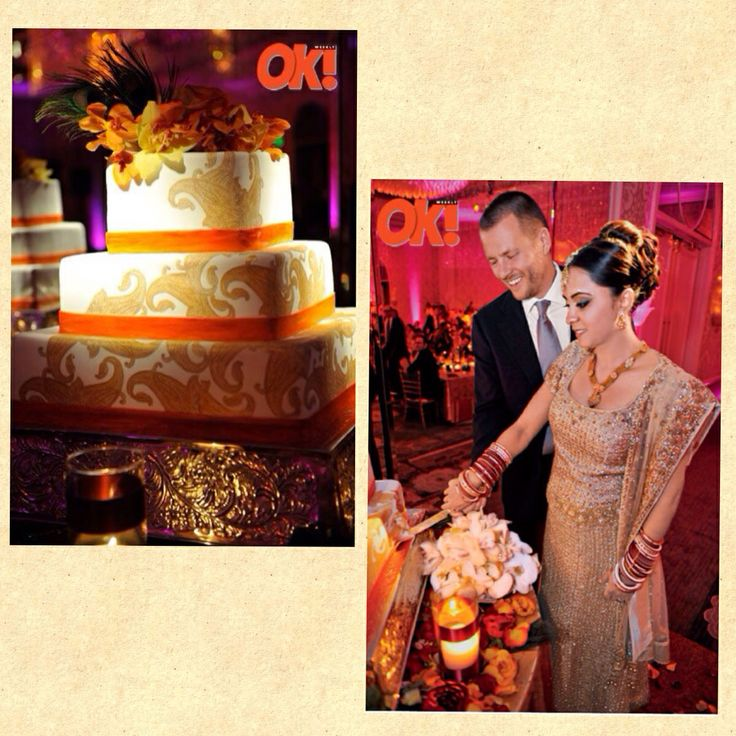 Parminder Nagra and James Stenson wedding cake