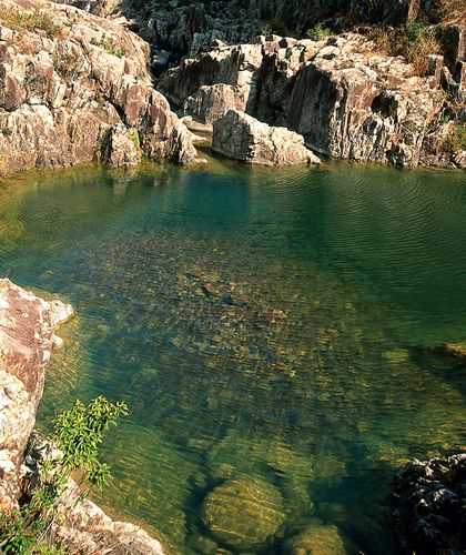 Hong Kong's Top 10 : Tai Long Wan Coastline - Natural Swimming Pools    A lovely series of waterfalls and natural swimming pools is the area's best-kept secret. Reach them from the path running alongside the small river at the northwestern end of Tai Long Sai Wan beach.
