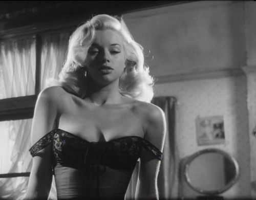 Diana Dors in 'Tread Softly, Stranger', 1958.