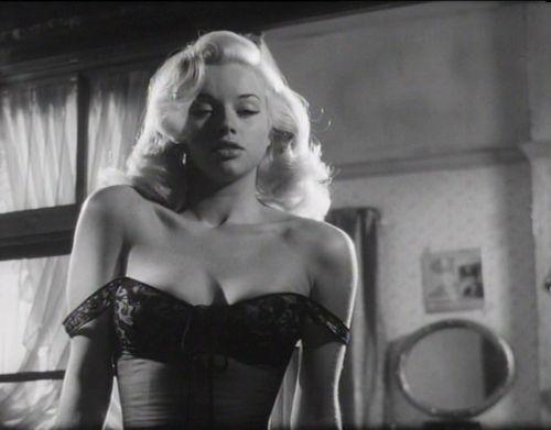 Diana Dors in 'Tread Softly, Stranger', 1958.
