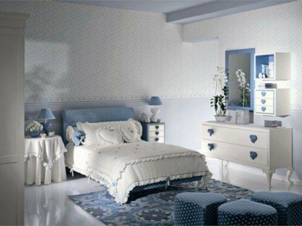 Déco chambre fille de vos rêves - mignone-bleue-chambre-ado-fille