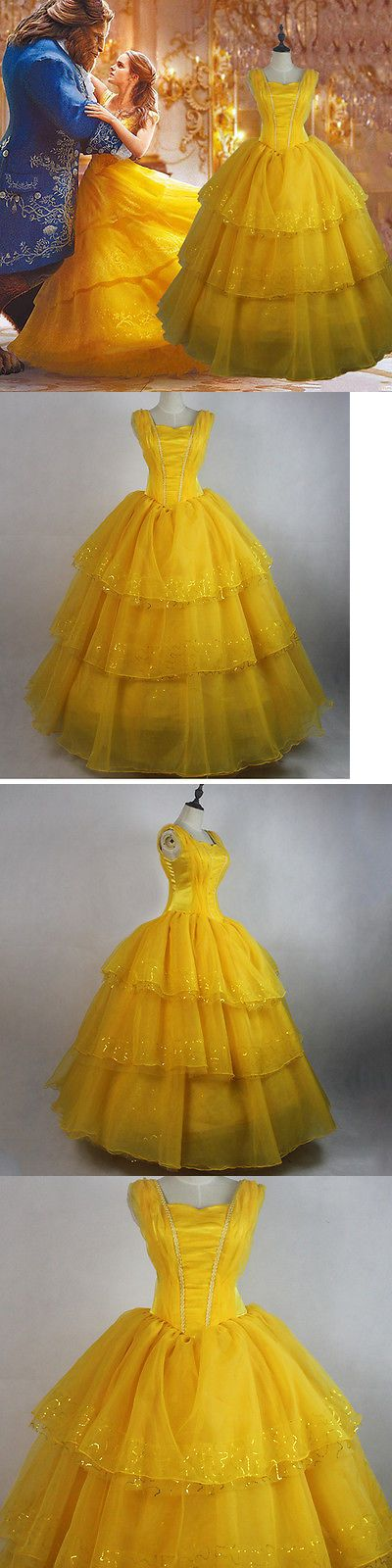 Halloween Costumes Women: Adult Beauty And The Beast Princess Belle Cosplay Costume Ball Gown Fancy Dress -> BUY IT NOW ONLY: $85.99 on eBay!