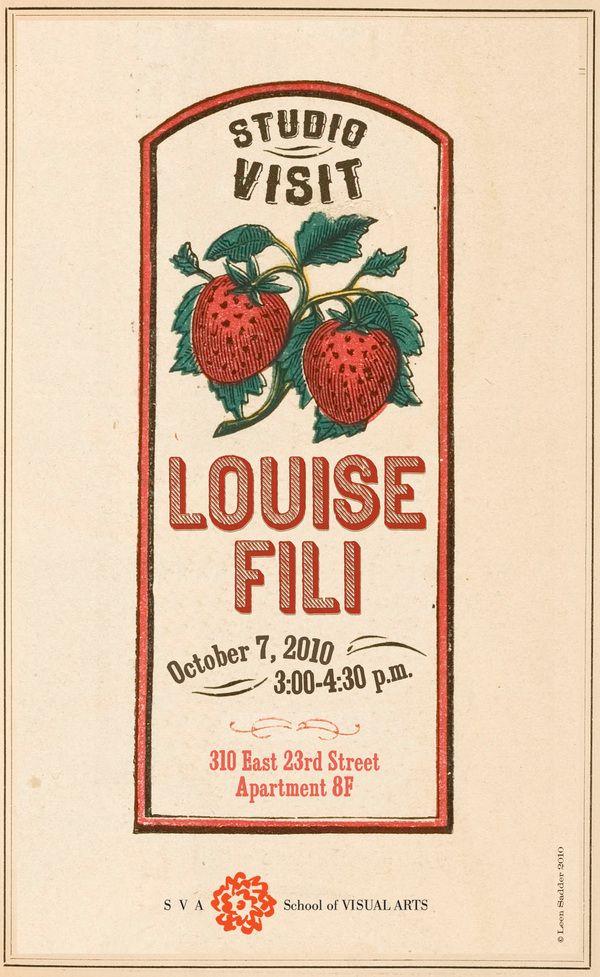 Louise Fili Poster
