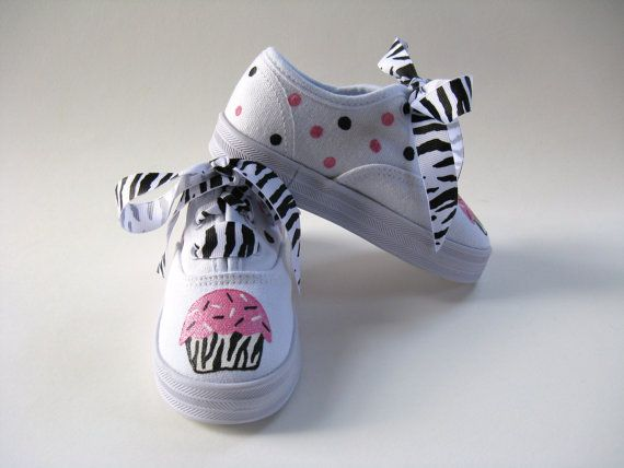 Girls Zebra Cupcake Shoes Baby and Toddler by boygirlboygirldesign, $28.00
