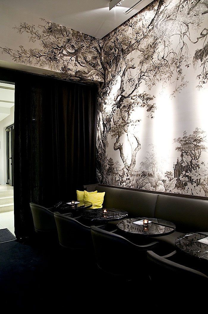 former interior design of artcurial caf paris by gilles boissier franois houtin graphic - Interior Design Wall Painting