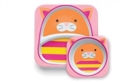 Cat Zoo Tableware Melamine Set by Skip Hop