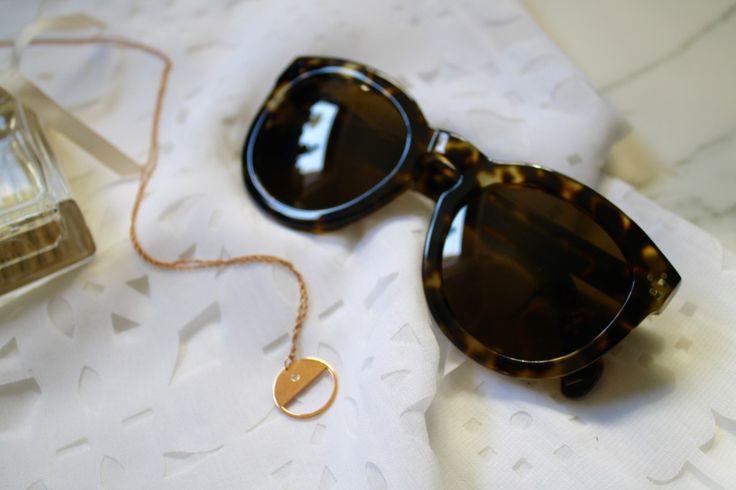Summer essentials - Celine Pretty Sunnies - Jennifer Zeuner rose gold necklace