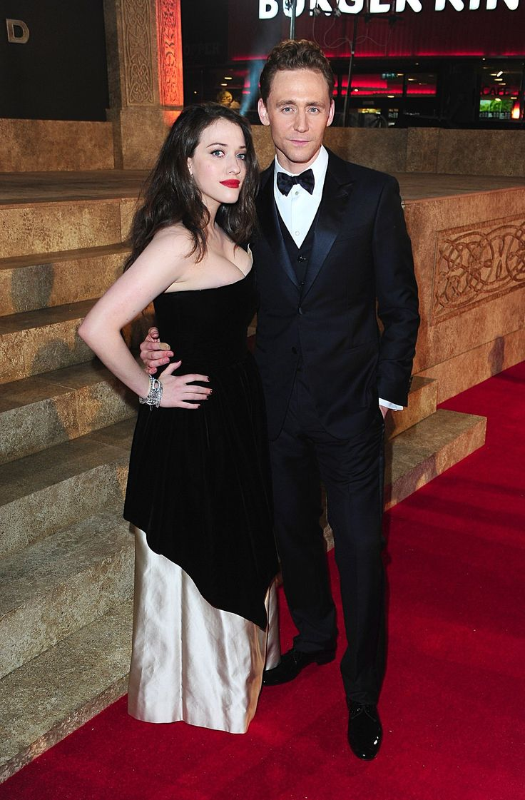 Tom Hiddleston and Kat Dennings attend the World Premiere of 'Thor: The Dark World' at The Odeon Leicester Square on October 22, 2013 in London, England [HQ]