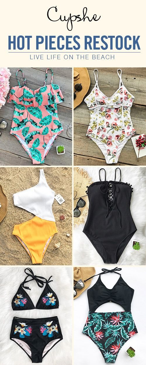 Feel the fresh waves with fabulous Cupshe bathing suits. It's all about the finer things in style. These pretties present everything but boring~ Take them home and live life on the beach~