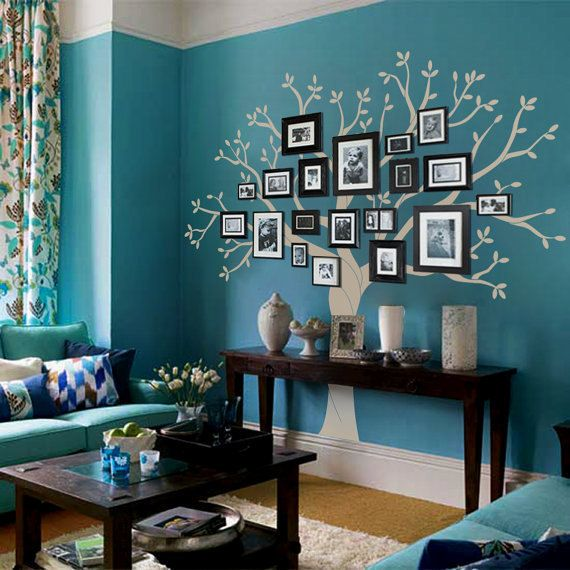 Vinyl Wall Decal family photo frame tree buds trees without birds leaf home house Art wall Decals Wall Sticker stickers baby room kid 901