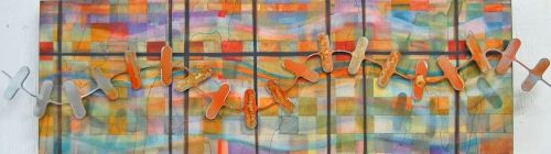 """'Pathway' by Uxbridge Ontario artist Lynn Bishop. """"As I create my pieces, I will…"""