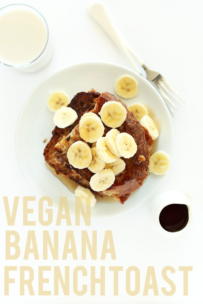 VEGAN BANANA FRENCH TOAST! SO easy and delicious - 5 ingredients, 1 bowl. #vegan #breakfast #healthy
