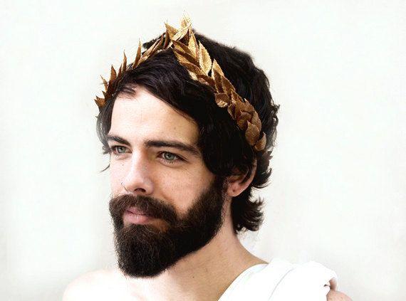Bandeau de nouvel an de feuille d'or. Dieu grec, NYE, Couronne de feuilles d'or, César, grecque bandeau, grec, unisexe, Couronne, feuille d'or, casque romain