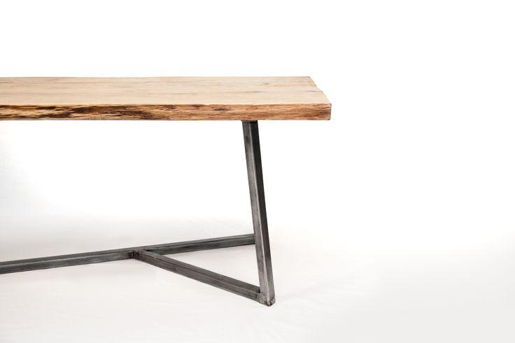 NAW Oak Steel Table XXL http://www.nutsandwoods.de
