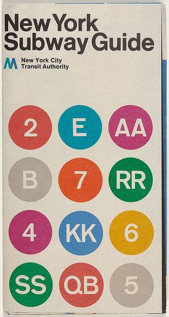 Typographic poster design by Massimo Vignelli, circa 1970
