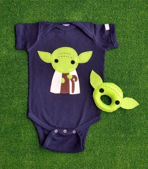 Yoda Onesie for Will! Hahaha @Amy Catherine Manzella