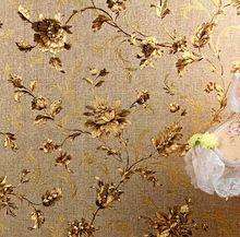 Papel pintado De lujo Floral Papel De pared moderno oro grabado en relieve De Papel tapiz para paredes De Papel De Parede Wallpaper rollo Tapete vinilo wallpapers(China (Mainland))