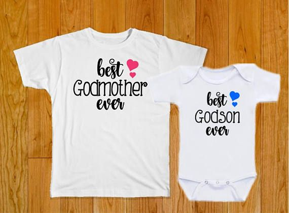 c1b1b48fc Godmother Shirt Godson Shirt - Godmother Gift - Godson Gift - Baby Shower  Gift - Baptism Gift - Christening Gift - Baby Boy Gift - Godson | Great  Gifts!