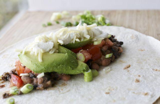 Burrito vegetariano mexicano   En mi cocina hoy