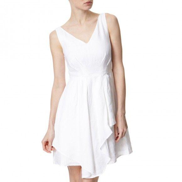 White Linen Garden Party Dress | BrandAlley