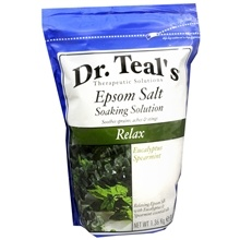 Dr. Teal's Epsom Salt Soaking Solution ($5 at drugstores). Combine equal parts salts & conditioner. Apply to damp hair and leave on for 20 mins. before rinsing. Salts increase hair volume, conditioner combats dryness.