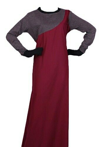EID ul Adha Women's Collection #1 Design Nº: 0339 Available Size: 54 to 60 R, L & XK Available Color's: Maroon & Grey with red lining Fabric: T.R. Twill Price: 550 to R600 More info @ http://kufnees.co.za