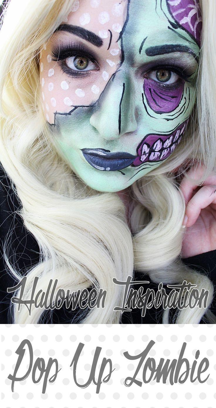 Halloween Inspiration: Pop Art Zombie, inspiriert bei Iron Fist.  Wie schminkt man einen Zombie im Comic Stil ohne Kunstblut