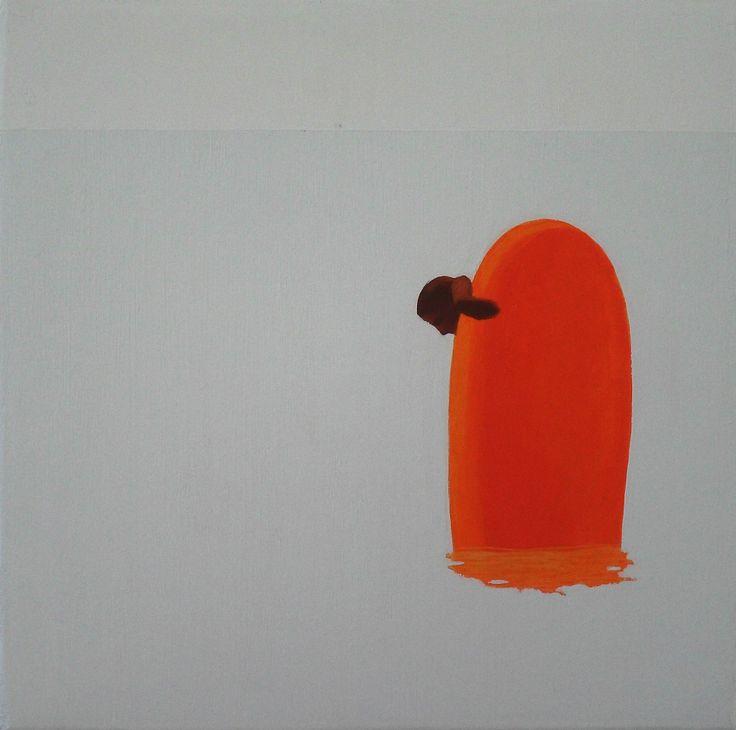 Skok X, 2010, olej na płótnie, 20x20cm.