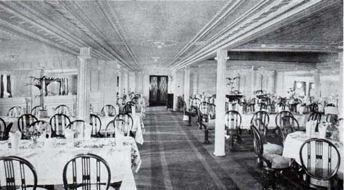 Dining saloon second cabin r m s franconia and laconia for First class cruise ship cabins