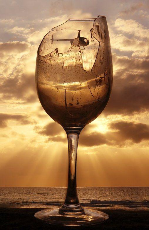 Broken Wine Glass Splatter Art - The Amateur Gourmet   Broken Wine Glass Painting
