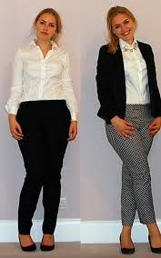 Image result for ladies workwear grey and white
