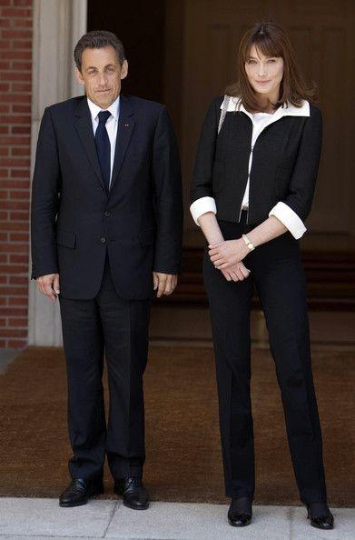 Carla Bruni-Sarkozy and Jose Luis Rodriguez Zapatero Photos: Jose Luis Rodriguez Zapatero Meets Nicolas Sarkozy