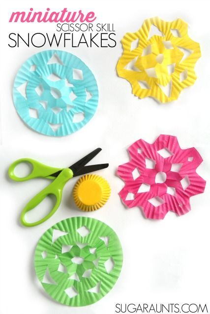 BEAUTIFUL snowflakes and a great way to practice scissor skills!