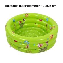 Portable Indoor Outdoor Baby Swimming Pool Air Cushion Children Inflatable Bathtub Round Basin Summer Water Pool Toys