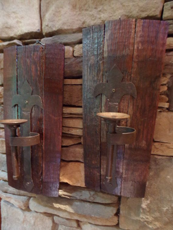 i created these rustic wall sconces out of old half on wall sconces id=75488