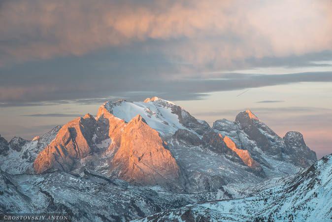 Morning in Dolomites