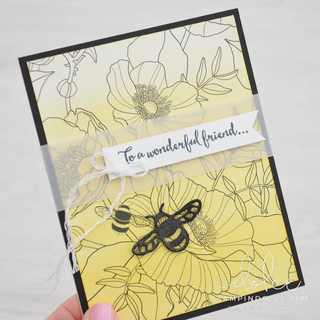 Stampin' Dolce: cheat coloring by using a Sponge Brayer with the Inside the Lines Designer Series Paper from Stampin' Up! - GDP080