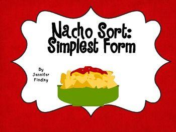 FREE Nacho Math Center: Simplest Form