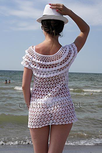 Пляжная туника «Летний зной» - Вязание Крючком. Блог Настика