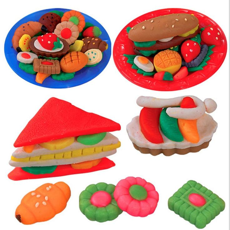 Play Dough Mold Set Healthy Sandwich Mode Soft Clay Plasticine Toys